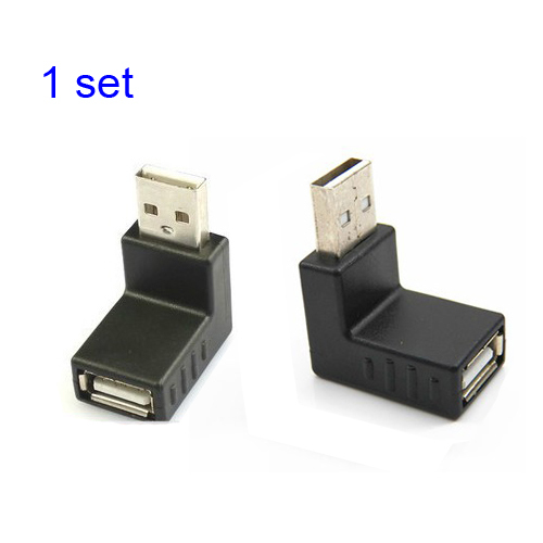 50set / 2-piece set up+down angle usb male to female converter connector adapter<br><br>Aliexpress