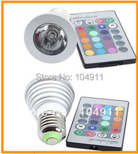 50% Discounts 1 X Energy Saving 5W e27 GU10 MR16 E14 RGB LED Bulb Lamp light Color changing IR Remote(China (Mainland))