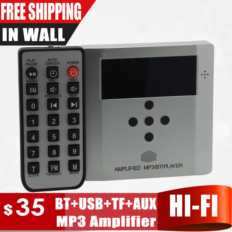Home Audio system,music system,Ceiling Speaker system,Bluetooth digital stereo amplifier, in wall amplifier silver color