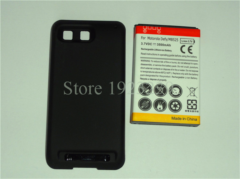 OEM Mobile Phone Replacement Parts Battery Door Cover Back Housing For Motorola moto DEFY MB525 ME525 + a free battery(China (Mainland))