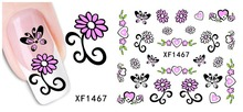 1 sheets Beauty Flower Design Nail Art Water Transfer Stickers Decals DIY Beauty Adhesive Nails Decoration