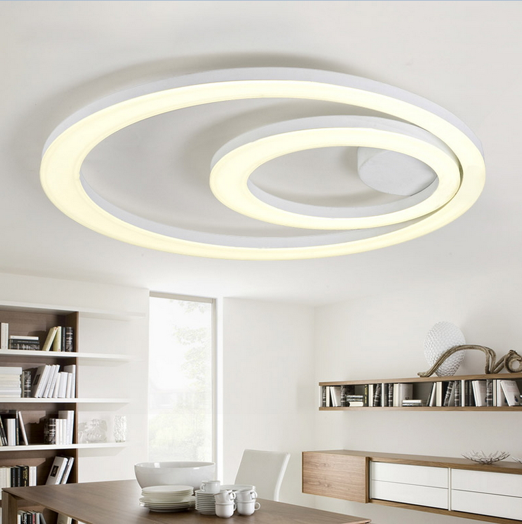 Led Ceiling Lights For Kitchens : White acrylic led ceiling light fixture flush mount lamp