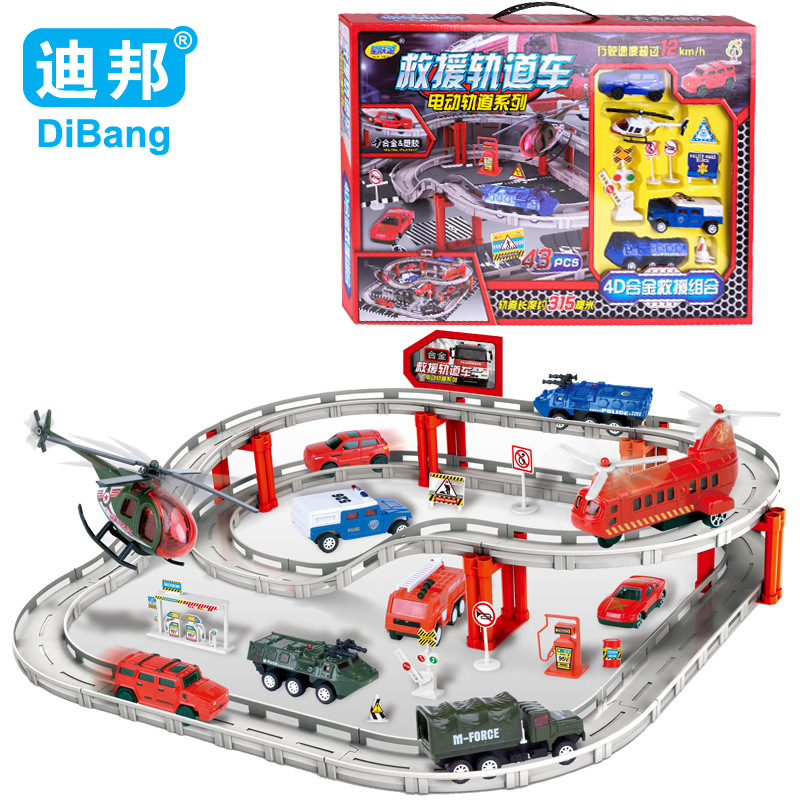 Kids Toys For Children fire truck suit 1:64 alloy electric track toy car Hot Wheels Track Toys Fire Track Toys DB2274(China (Mainland))