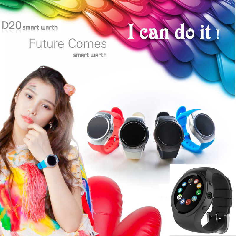 Sport GPS Bluetooth Smart Watches 2016 IOS Android Smart Phone Watch Wrist  D20 SIM Card Camera WIFI Clock Heart Rate Monitor