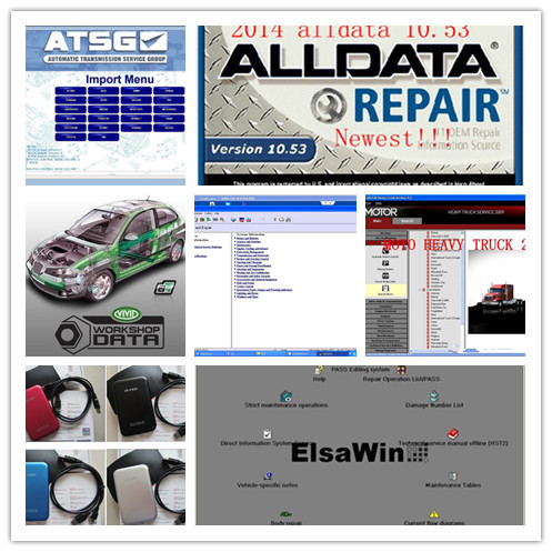 Alldata Auto repair software 28in1 new usb hdd harddisk fast speed with mitchell on demand software plusVivid work shop ect(China (Mainland))