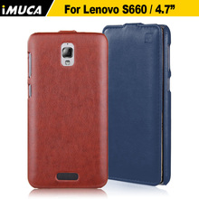 Lenovo S660 case cover luxury flip leather case for Lenovo s660 s668t vertical case capa iMUCA Brand Original