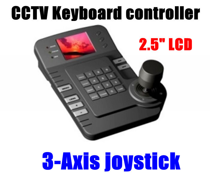 """Christmas 2.5"""" LCD Screen 3-Axis joystick Intelligent CCTV Keyboard controller for PTZ Camera Free Shipping(China (Mainland))"""