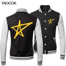 Discount 2016 Winter Streetwear Punk Leather Printed Lavigne Rock Band Hip Hop Mens Coats And Black Baseball Jackets XXXL(China (Mainland))