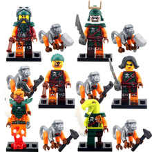 Decool 6pcs/set Ninjagoes Pirates Cyren Doubloon Nadakhan Flintlocke Clancee Buck Monkey Minifigure Toy Compatible with Legoes