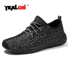 YEALON Running Shoes For Men Yeezy Shoes For Sale Mesh Breathable Sports Trainers Sneaker Womens Running Sneakers Size36-44(China (Mainland))
