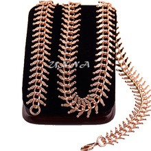 1pcs Fashion Men Women 18K Rose Gold Plated Filled Necklace Extender Link Chain Jewelry Multi Length E195(China (Mainland))