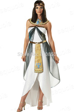 Free Shipping New Halloween Costume Greek Goddess Egyptian Queen Costume Arab Girl Sex Costumes Dress D1176C