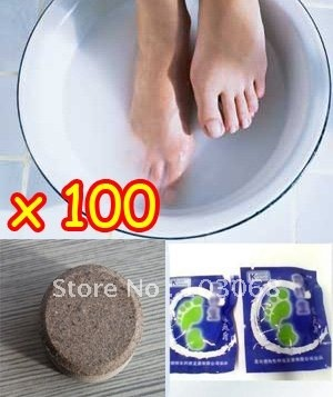 NEW Chinese Foot Soak Bath Tablet / Foot Care Scrub Spa Prevent Stinking Feet Sweat,Odor Removal Wholesale Lots OF 100