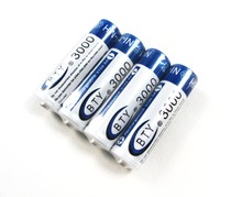 High Quanlity Rechargeable Battery AA 3000mAh 4 X BTY NI-MH 1.2V Rechargeable 2A Battery Baterias Bateria Batteries