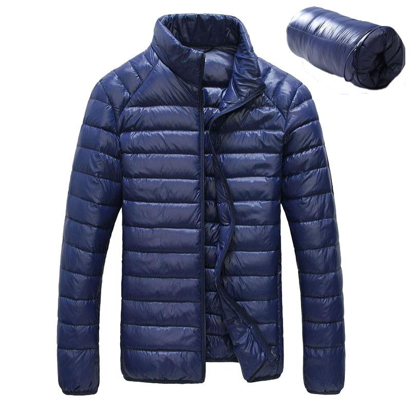 Snowka Winter Jacket Men Brand 2016 Fashion Stand Collar Ultra-light Duck Down Jacket Full Sleeve Outwear Casual Outdoor Coat