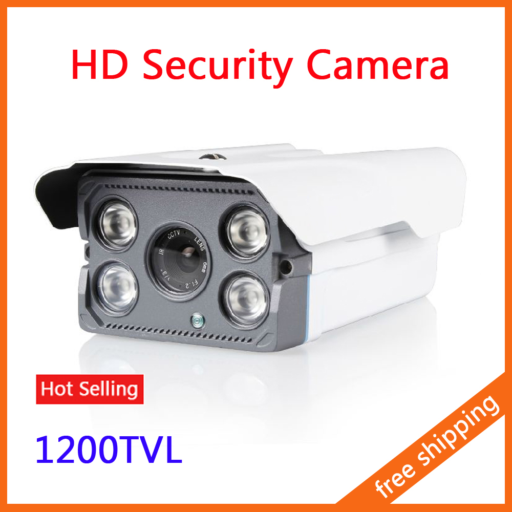"CCTV Camera IR Array LED Bullet Camera Security Camera 1/3"" CCD 1200TVL Night Vision Waterproof(China (Mainland))"