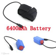 5 шт./лот 8.4 В 6400 мАч литий-ионная аккумуляторная батарея для 2 в 1 кри XML-T6 из светодиодов велосипед лампа фара фары