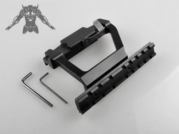Airsoft Air Gun Rifle AK Saiga Quick Release Detachable Double Picatinny Rail Side Scope Mount Y0022<br><br>Aliexpress
