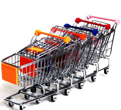Home Storage Box Mini Supermarket Shopping Handcart trolley(China (Mainland))