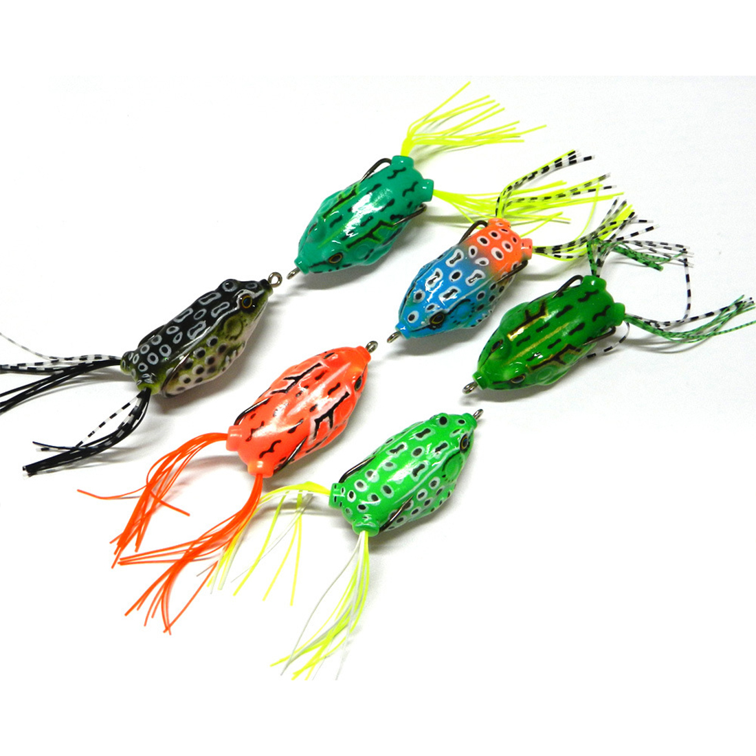 Random Color Bionic Bait With Feather Artificial Lure Frog Metal Hard Baits Lure(China (Mainland))