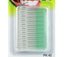 Lowest Price ! 40PCS/Pack Elastic massage the gums between the teeth brushing teeth brushing seam soft brush massage gums(China (Mainland))