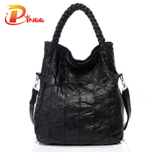 100% Genuine Leather Bags Real Sheepskin Women Handbags Patchwork Crossbody Bags For Women Free Shipping(China (Mainland))