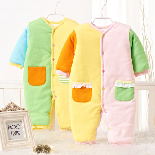 2015 New Carters Newborn clothes 100% Cutton Warming Romper baby girl jumper Autumn Spring outer wear jumpsuits Cotton coat(China (Mainland))