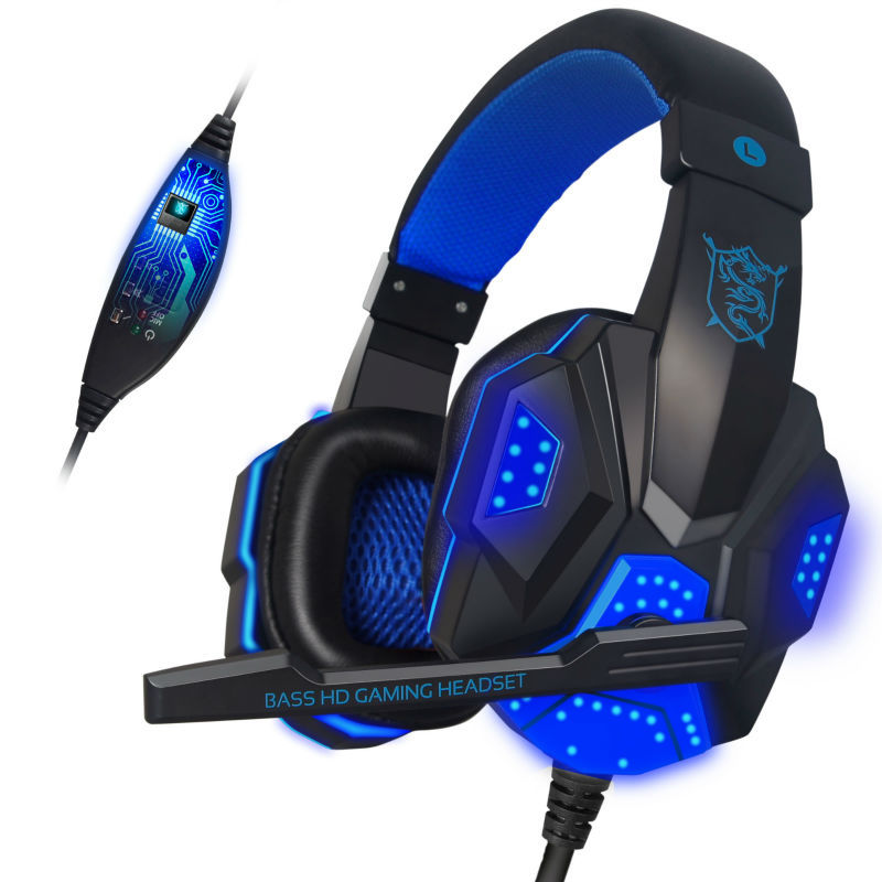 2016 Brand PLEXTONE PC780 Auriculares Casque audio PC Gaming Headset Headphone with Mic Stereo Bass LED