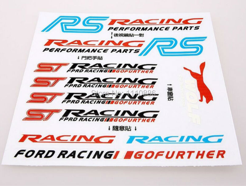 3D RS Racing ST Car Styling Decal Decoration StickersDecal Ford Focus Fiesta  -  Ecarlife Online Store store