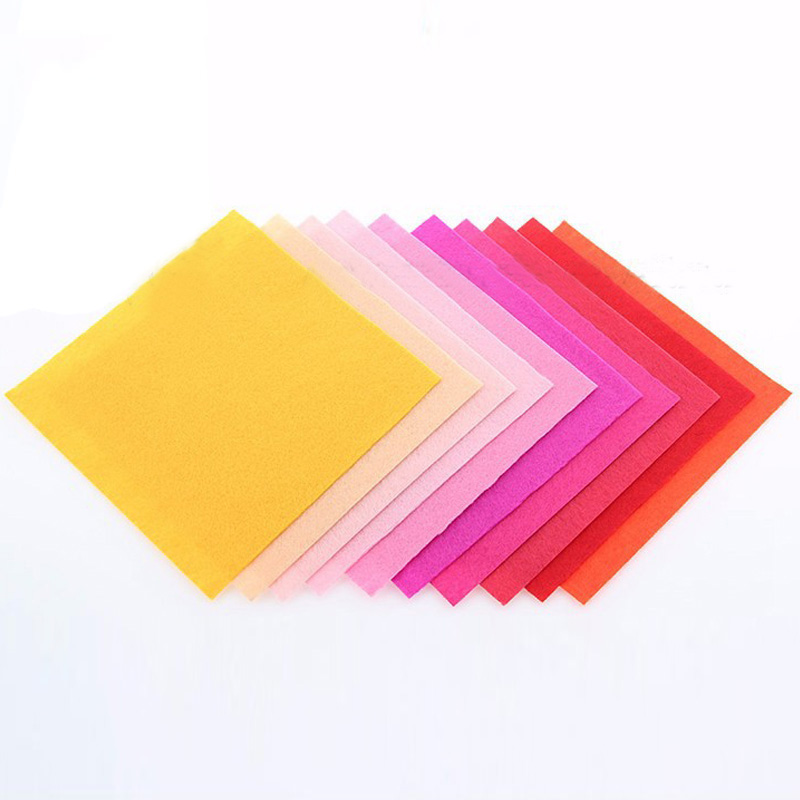 40pcs Non Woven Felt Fabric 1mm Thickness Polyester Cloth Felts Of Home Decoration Pattern Bundle For Sewing Dolls Crafts(China (Mainland))