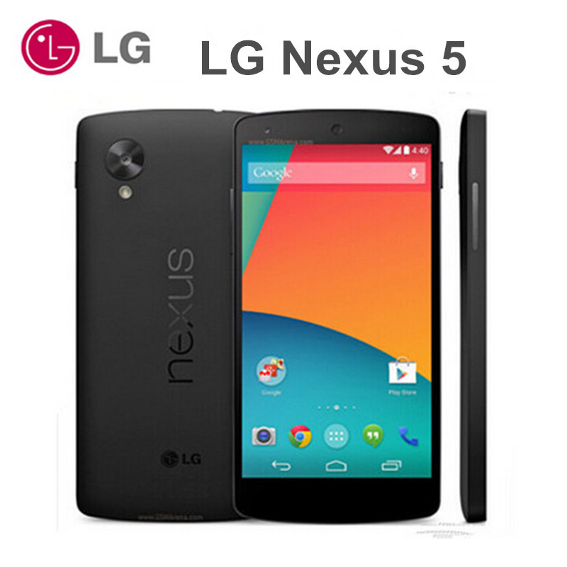 Original LG Google Nexus 5 D820 D821 3G/4G 4.95'' Touch Wifi NFC Quad Core Android Smartphone 2GB RAM 16GB/32GB ROM Cell Phone(China (Mainland))