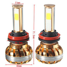 AUTO 2016 H11 120W 12000lm wheeled machine LED Bulb Bright Auto DRL Lamp Bulb Headlight car-styling car light car styling SE 08