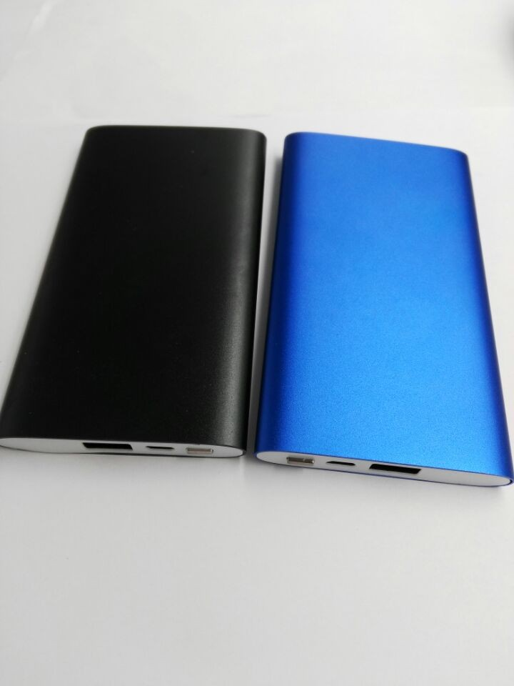 free shipping full metal 5000mah ultra slim usb font b mobile b font power bank
