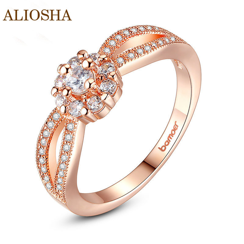 Aliosha 2015 High Quality Finger Ring for Ladies Wedding Surrounded by AAA Cubic Zircon Jewelry Princess Unusual Ring(China (Mainland))