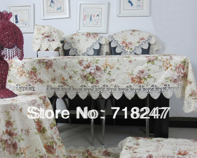 New Arrival High Quality 135*180cm Elegant 100% Polyester Lace Tablecloths Jacquard Printed Table Cloth Covers Free Shipping