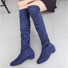 Kadın yüksek çizmeler ayakkabı moda kadın diz üzerinde yüksek çizmeler sonbahar kış Bota Feminina uyluk yüksek çizmeler(China)