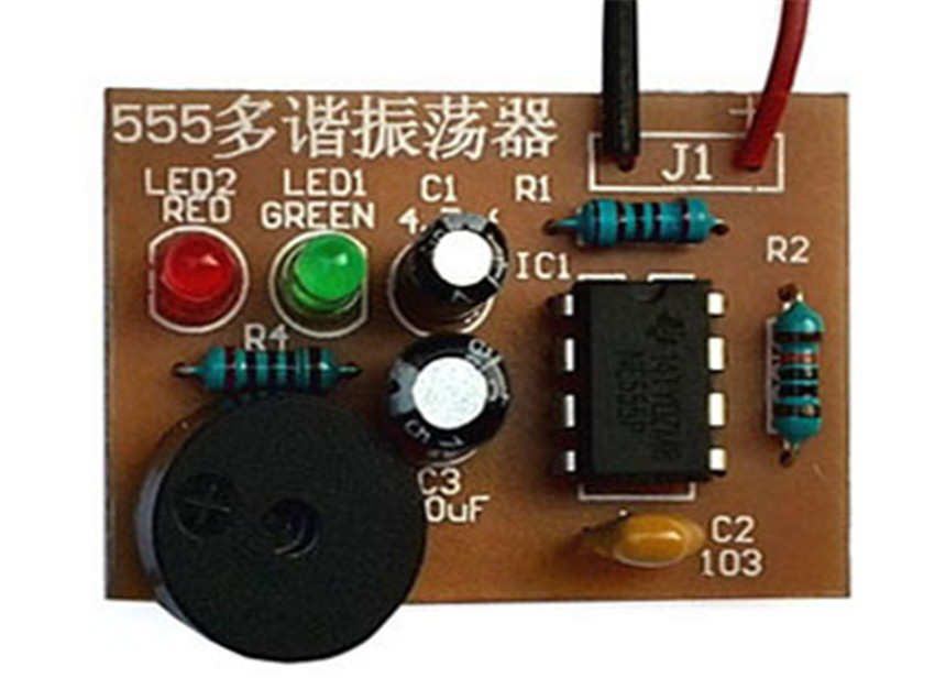 LED suite 555 Multivibrator suite NE555 No steady state circuit Double flash Electronic actual bulk production 555 Timer(China (Mainland))