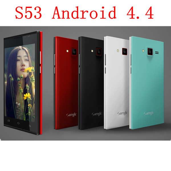 5.0 inch Ordinary Smartphone S53 Android 4.4.2 MTK6572A-3G Dual Core GSM WCDMA 2 MP Camera Bluetooth FM GPRS MP3 Multi-language(China (Mainland))