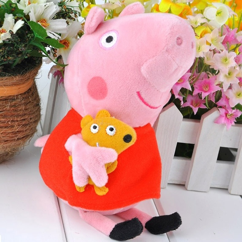 100% New Baby Kids Dolls Plush Toy Stuffed 20CM Peppa Pig Plush Doll Kid Gift HB88(China (Mainland))