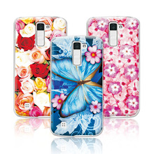 Buy Floral Art Painted Flower Case LG K7 X210 X210DS MS330 Tribute 5 LS675 Case Cover LG K7 K 7+Free Pen Gift for $1.42 in AliExpress store