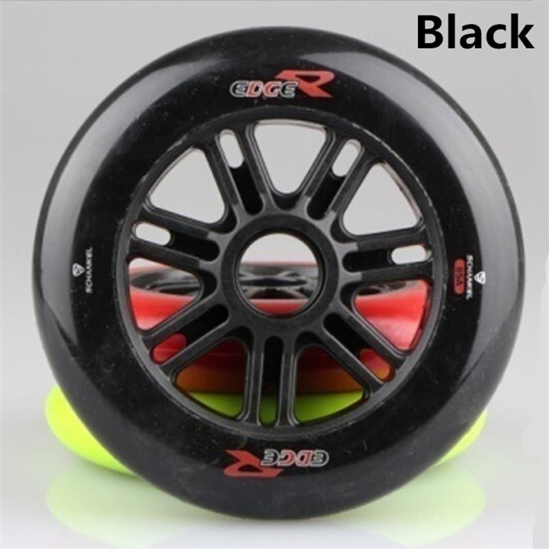 [ 125mm Speed ] 6Pcs/Lot Schankel Edge Inline Speed Skates Wheel, 125mm 85A Black Race Racing Speeding Skating GRIP Wheels(China (Mainland))