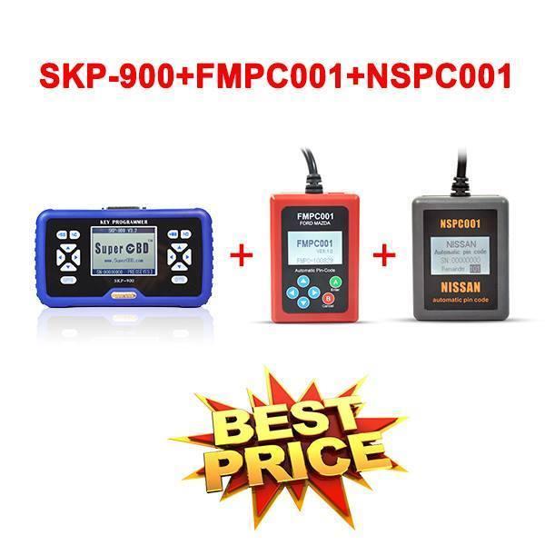 Original v4.2 SuperOBD SKP900 key programmer SKP-900 key programmer +FMPC001 Pin-Code Reader +NSPC001 Pin Code Reader(China (Mainland))