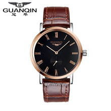 Original GUANQIN Men Watches Top Brand Luxury Automatic Mechanical Casual Leather Strap Waterproof Shockproof Men s
