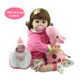 NPK Lifelike Baby Dolls 20 Inch 50cm Smiling Realistic Soft Vinyl reborn babies Kid s Birthday