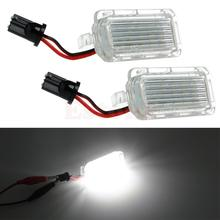 1Pair License Number Plate Light 18LED Lamps Replace For Ford Mondeo Focus 5D Canbus(China (Mainland))