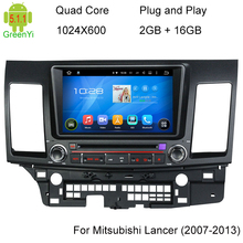 Quad Core 1024*600 Android 5.1 Car DVD GPS Mitsubishi Lancer 2006-2013 Navigation Stereo Radio WIFI 3G Mirror-link - GreenYi Technology co., LTD. store