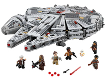 Whole Sale Price LEPIN#05007 Star Wars Millennium Falcon Figure Toys building blocks minifigures compatible with legoe gift
