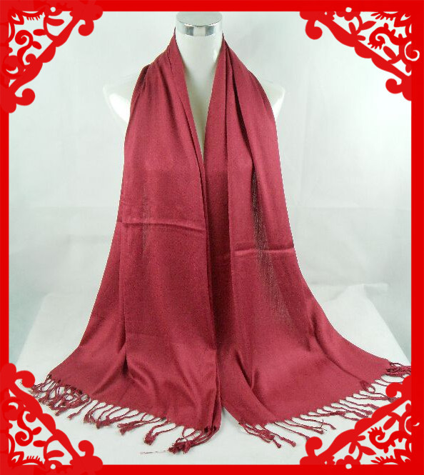 (free shipping)plain cotton pashmina ,muslim shawl ,muslim hijab ,muslim scarf viscose shawl 170*70cm can choose colors(China (Mainland))