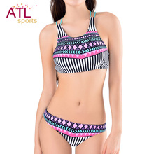 Women Tankini Sexy Swimsuit High Neck Bikini Halter Push Up Swim Suit Sport Bikini Set Padded Swimwear Female Bathing Suit XL