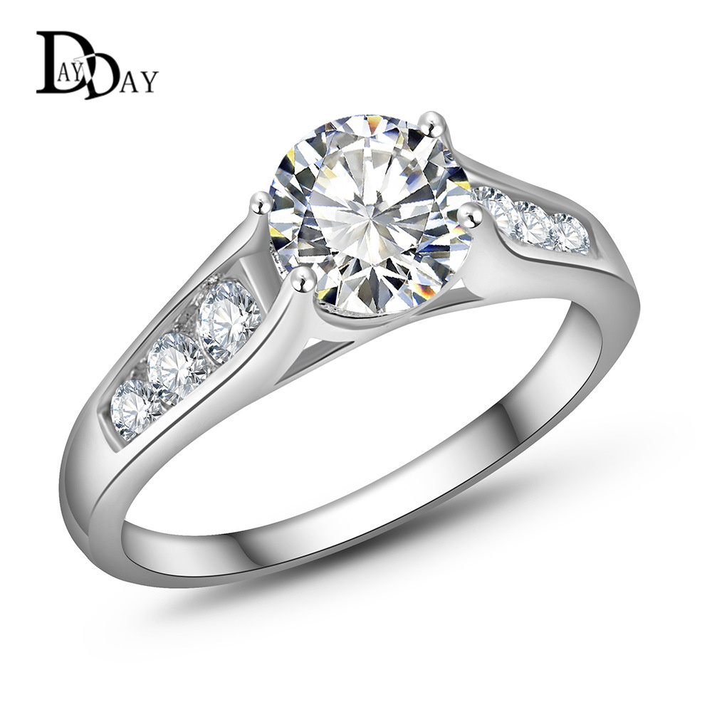 Aliexpress Buy 2015 Classic Austrian Crystal Silver Plated Wedding Ring
